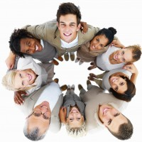 Business group showing teamwork